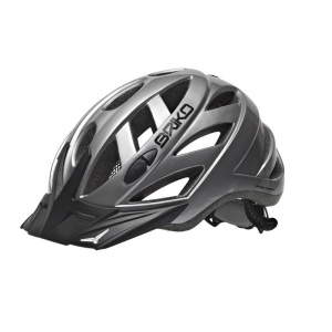 BRIKO Casco ciclismo unisex in-moulding technology CITY silver 013599