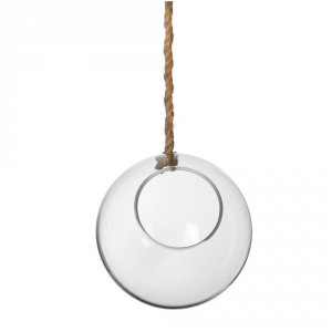 AGRICOLA Deco Glass Ball Hanging Sil H2 Arredamento