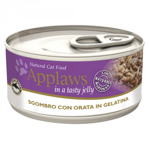 APPLAWS Cat Natural Food Lattina Con Sgombro E Orata Umido Gatto Grammi 70