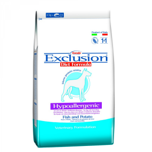 EXCLUSION Dog Hypoallergenic Pesce E Patate 3Kg