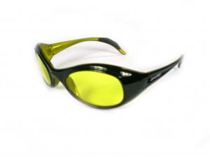 BRIKO VINTAGE Occhiali sportivi da sole unisex TWIN SHIELD nero giallo 01401106S