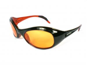 BRIKO VINTAGE Occhiali sportivi unisex TWIN SHIELD nero arancio 01401107S.C9