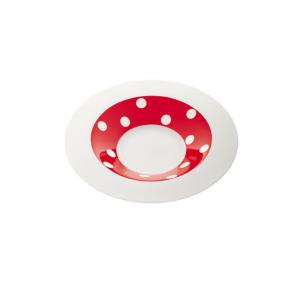 FRESHNESS BY LIVELLARA Piatto fondo freshness dots red - Cucina tavola
