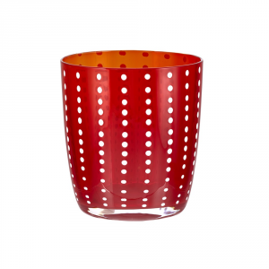 LIVELLARA MILANO Bicchiere tumbler carneval rosso - Cucina tavola