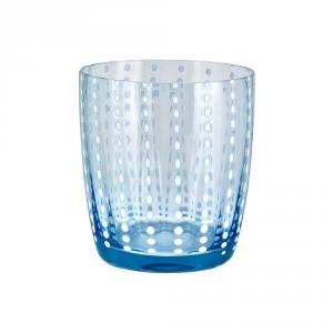 LIVELLARA MILANO Bicchiere tumbler carneval blu cielo - Cucina tavola