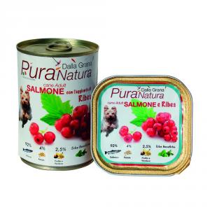 DALLA GRANA PURA NATURA Salmone Ribes Grain Free Cane Umidi