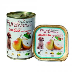 DALLA GRANA PURA NATURA Quaglia Pere Grain Free Cane Umidi