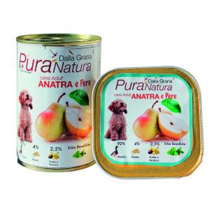 DALLA GRANA PURA NATURA Anatra Pere Grain Free Cane Umidi