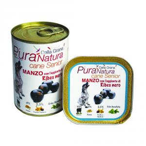 DALLA GRANA PURA NATURA Manzo Ribes Senior Grain Free Cane Umidi