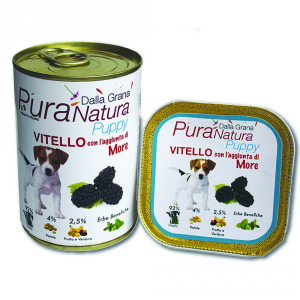 DALLA GRANA PURA NATURA Vitello More Puppy Grain Free Cane Umidi