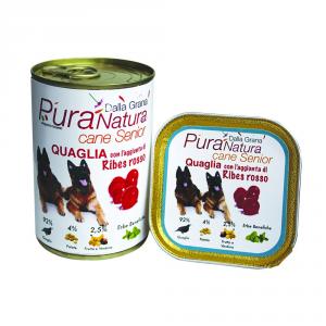DALLA GRANA PURA NATURA Quaglia Ribes Senior Grain Free Cane Umidi