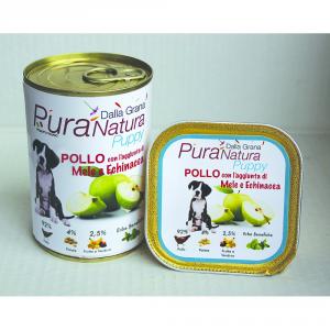 DALLA GRANA PURA NATURA Pollo Mele Puppy Grain Free Cane Umidi