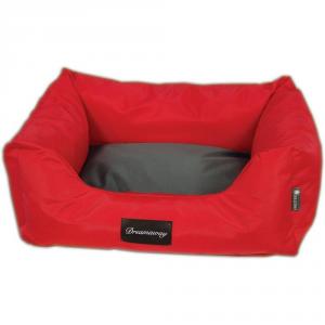 FABOTEX Petit Sofa Boston Urbain Rosso-Antracite 120X100X28 Per Cani E Gatti