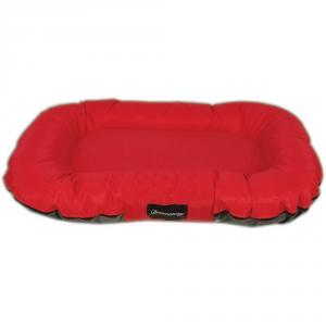 FABOTEX Materasso Boston Urbain Rosso-Antracite 120X90X16 Per Cani E Gatti