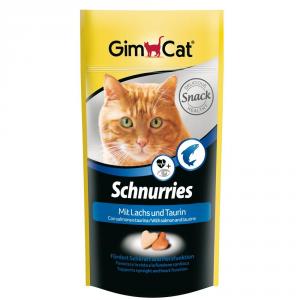 GIMPET Snack Per Gatto Schnurries Gusto Salmone 40Gr Con Taurina E Tgos.