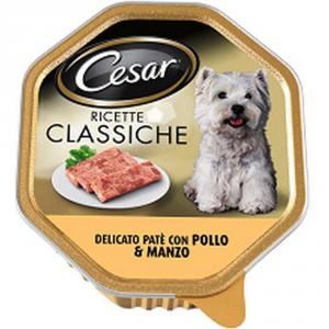 CESAR Cesar Pate Pollo Manzo GR. 150 Alimenti Umidi Per Cani