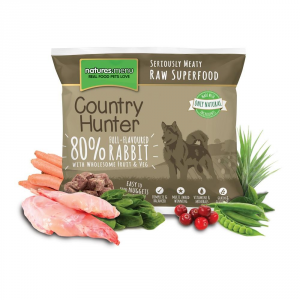 COUNTRY HUNTER Alimento Surgelato Raw Coniglio 1Kg Barf Cane