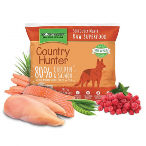 COUNTRY HUNTER Alimento Surgelato Raw Salmone E Pollo 1Kg Barf Cane