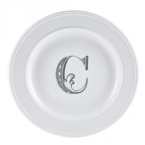 LIVELLARA Milano Piatto Letter Dessert C 22Cm In Fine Porcellana