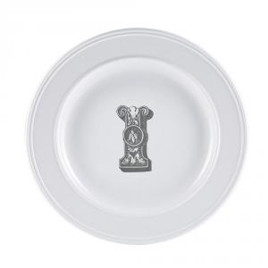 LIVELLARA Milano Piatto Letter Dessert I 22Cm In Fine Porcellana