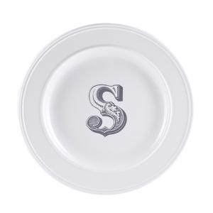 LIVELLARA Milano Piatto Letter Dessert S 22Cm In Fine Porcellana