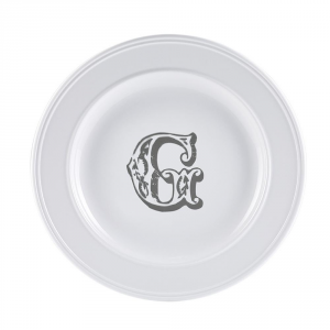 LIVELLARA Milano Piatto Letter Dessert G 22Cm In Fine Porcellana