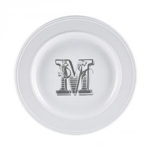 LIVELLARA Milano Piatto Letter Dessert M 22Cm In Fine Porcellana