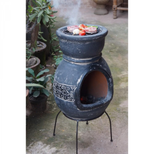 COOKOUT PARTY Camino Maya Bbq Grigio Area Di Cottura 36Cm - H 65Cm