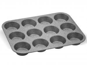 AETERNUM Stampo 12 Muffin Antiaderente Madame Petraverapasticceria E Cake Design