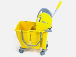 EUROMOP MOP Carrello per mop doppiavasca con strizza giallo pavimenti Pulizie casa
