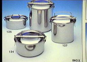 FRABOSK CASALINGHI Scatola porta vivande tondo inox cm12 Contenitori cibi cucina