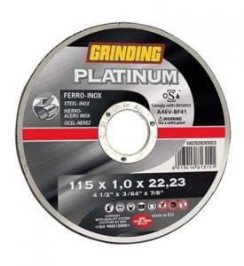 Disco Grinding Platinum Per Ferro-Inox Mm 115X1 F22 Utensileria Manuale