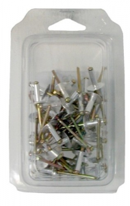 Set 5 Rivetti Alluminio Testa Extra Larga Mm 4,8X12 Pz 50 Utensileria Manuale