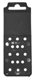 Set 700 Placchetta Plastica Nera Cm 12,5X4,5 Ferramenta
