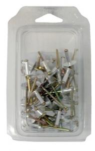 Set 5 Rivetti Alluminio Testa Extra Larga Mm 4,8X14 Pz 50 Utensileria Manuale