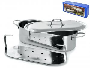 GIERRE Pescera inox con coperchio grande cm60 Pentole e preparazione cucina