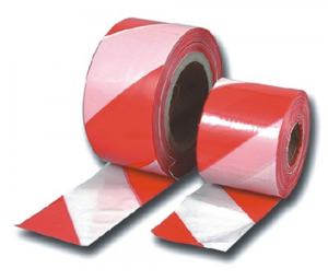 Nastro Segnaletica Bianco-Rosso Mt 200 Edilizia Segnaletica Sicurezza