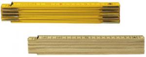 Set 12 Doppiometro Legno Giallo Con Molle Utensileria Manuale
