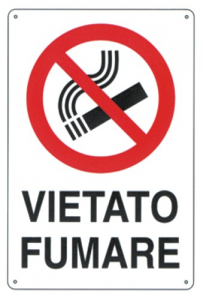 Cartello Plastica Vietato Fumare Cm 20X30 Edilizia Segnaletica Sicurezza
