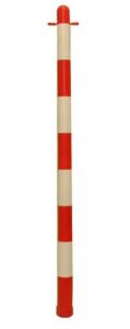 Colonnina Plastica Delimitazione Cm 90 - Bianca Rossa Segnaletica Sicurezza
