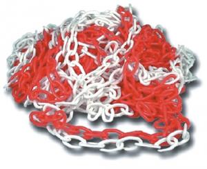 Catena In Plastica Bianca-Rossa Mm 6 Mt 25 Edilizia Segnaletica Sicurezza
