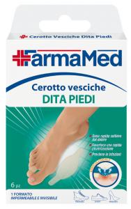 FARMAMED Piedi Cerotto Vesciche Dita 6 Pezzi 05230 Cura Dei Piedi Pedicure