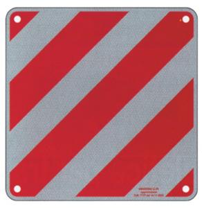 Cartello Carico Sporgente Omologato Alluminio Cm 50X50 Segnaletica Sicurezza