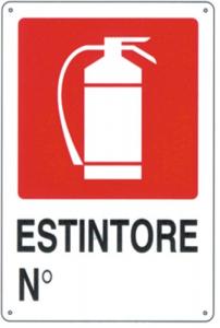 Cartello Plastica Estintori Cm 20X30 Edilizia Segnaletica Sicurezza