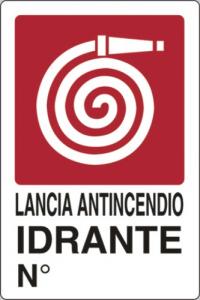 Cartello Plastica Idrante Cm 20X30 Edilizia Segnaletica Sicurezza