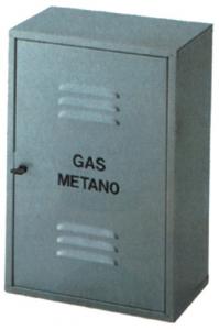 Armadietto Zincato Smontato Per Gas Cm 40X60X25 Idraulica Contatori-Armadi