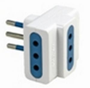 MAURER Adattatore Triplo Spina-Presa 10A Materiale Elettrico Civile