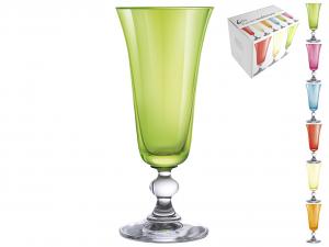 H&H Confezione 6 Calici In Vetro Mediterraneo Flute 15 Bicchieri Arredo Tavola