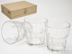 PASABAHCE Set 12 Bicchieri In Vetro Casablanca Cl27 Arredo Tavola