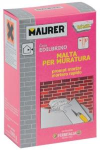 EDILBRIKO Set 12 Malta Per Muratura Edilbriko Scatola Kg 1 Colori Fa Da Te - Casa